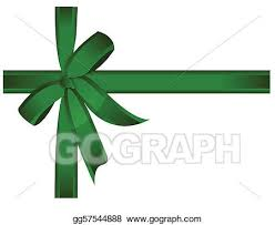 green gift bow vector green gift ribbon bow vector clipart drawing