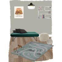 couleur pour chambre bébé nattiot tapis warren beige rond avec dentelles sur fonds gris
