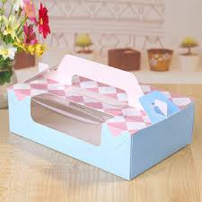 free shipping bakery package blue pink window decoration swiss
