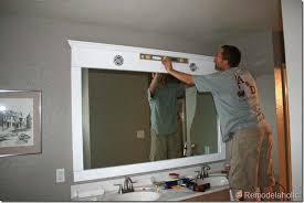 Large Bathroom Mirror Frames Amazing Bathroom Mirror Frame Ideas Remodelaholic Framing A Large