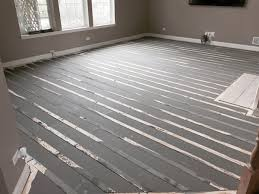 four steps to install radiant heat nailed hardwood floors