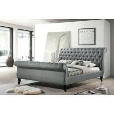 Fabric Sleigh Bed Upholstered Sleigh Bed King Uk U2013 Vansaro Me