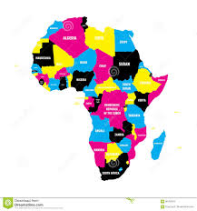 Map Of Africa With Country Names by Political Map Of Africa Continent In Cmyk Colors With National