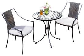 Marble Bistro Table Home Styles Marble Bistro Table Amp 2 Chairs In Black Amp Gray
