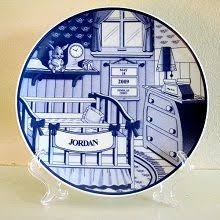 personalized baby birth plates lullaby stork personalized baby birth plate baby crafts