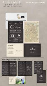 Invitation With Rsvp Card Art Deco Chalkboard Inspired Wedding Invitation Rsvp Card