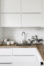 Tiled Kitchen Worktops - small l shape kitchen design and decoration using square white