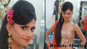 indian hairstyles engagement indian wedding makeup vibrant engagement look complete hair and