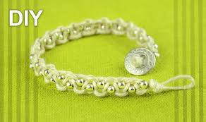 macrame bracelet with beads images Easy macrame bracelet with beads and button clasp tutorial jpg