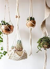 hanging planter basket macrame hanging planter basket la boheme life