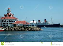 Long Beach California Map Queen Mary Long Beach Ca Royalty Free Stock Images Image 978809