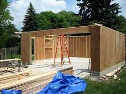 Build A Two Car Garage Garage Construction Youtube