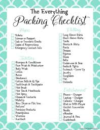 Travel Packing List images Travel packing list printables jpg