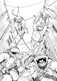 teenage mutant ninja turtles coloring book pages coloring pages