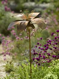 metal flowers daylily garden stake gardeners