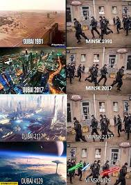 Dubai Memes - dubai compared to minsk years 1991 2017 2117 4129 starecat com