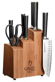 best kitchen knives block set ginsu chikara 8 stainless steel knife set bamboo block