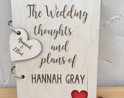Wedding Planner Journal Personalised Wedding Planner Etsy