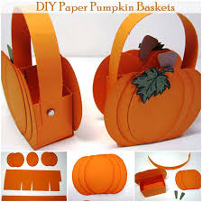 diy paper pumpkin baskets diy comfy home