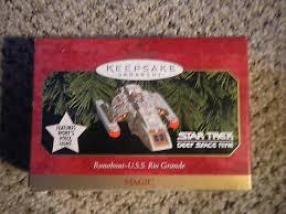 3 trek space nine hallmark keepsake ornaments worf