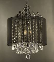 Mini Shade Chandelier Tutorial On How To Make A Drum Shade Chandelier Based On