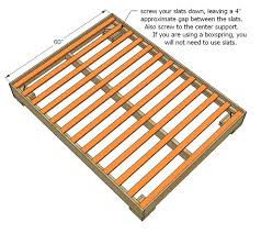 Bed Slat Frame Slats For Bed Frame White Much More Than A Chunky Leg Bed