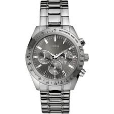guess stainless steel bracelet images Guess chase grey dial chronograph chrome stainless steel bracelet jpg