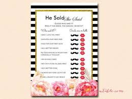 he said she said bridal shower de 114 bästa bridal shower free printables bilderna på
