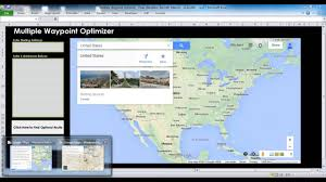 Google Maps With Multiple Stops The Multiple Waypoint Optimizer A Google Maps Tool Youtube