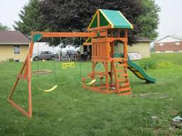 Playground Sets For Backyards by Backyard Discovery Tucson Cedar Wooden Swing Set Walmart Com