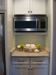microwave kitchen cabinets micro appliance garage hides the microwave and small appliances
