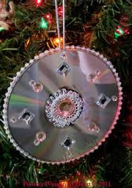 ornaments made from cds and paint so diy