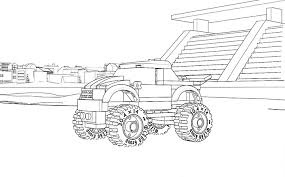 lego coloring page 60055 monster truck lego pinterest