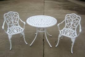 Aluminium Bistro Chairs Aluminium Bistro Set White Brundle Gardener