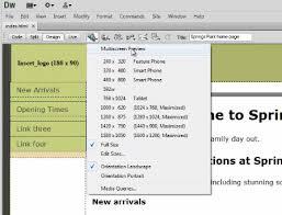 tutorial website dreamweaver cs5 using multiscreen preview and screen size settings with dreamweaver