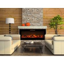 elite flame 60 inch fusion log built in smokeless wall mounted