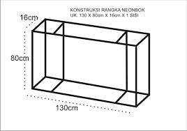 desain gambar neon box cara membuat neonbox langkah pertama cahaya kreasi adv