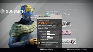 destiny gunsmith armsday orders and test weapons for february 22