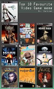 Top 10 Video Game Memes - top 10 video games meme by vnixxir on deviantart