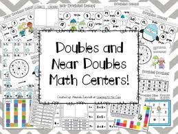 first grade math centers doubles and near doubles game pack tpt