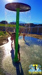 eagle mountain utah residential backyard splashed by my splash pad