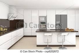 cuisine brun et blanc intérieur brun blanc cuisine brun frontal moderne photo de
