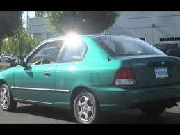 hyundai accent green 2000 hyundai accent l hatchback for sale in hillsboro or