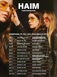 haim poster haim on you ready pre sale starts weds jun 28 at 10a