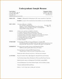 undergraduate resume template resume template undergraduate resume template word free resume