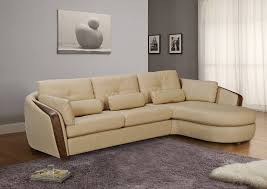 Sectional Sofas Maryland Taupe Bonded Leather Sectional Sofa With Ash Wood Accent Baltimore