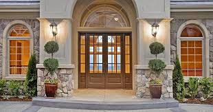 glass panels for front doors traditional front door with exterior stone floors u0026 arched window