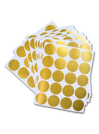 posh dots metallic gold circle stickers for festive wall decor