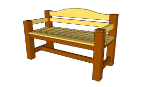 Plans For Building A Wood Bench by Outdoor Wood Bench Plans Treenovation