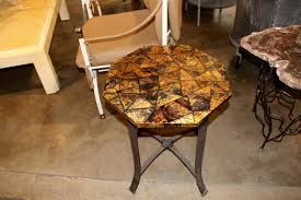 Kreiss Outdoor Furniture by Kreiss Collection Coconut Shell Octagon Top Table With Iron Base